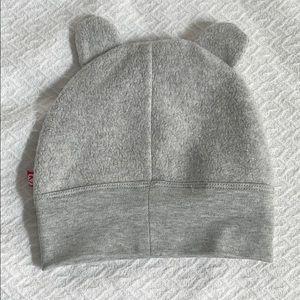 Zutano 18m grey fleece hat